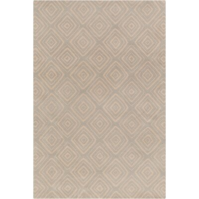 Oritz Hand Tufted Wool Gray/Cream Area Rug Rug Size: 5 x 76