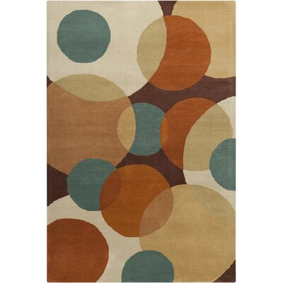 Oritz Hand Tufted Wool Dark Area Rug Rug Size: 5 x 76