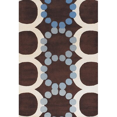 Osteen Brown/White Area Rug Rug Size: 79 x 106