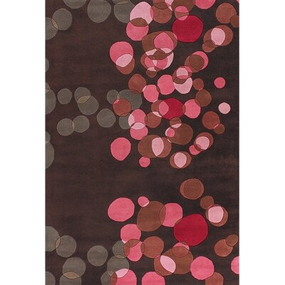 Osteen Brown/Pink Area Rug Rug Size: Rectangle 79 x 106