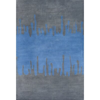 Perz Blue/Gray Area Rug Rug Size: Round 79