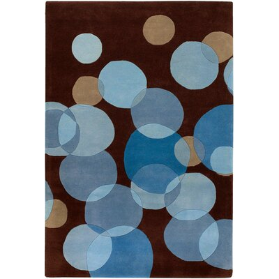 Osteen Brown/Blue Area Rug Rug Size: 79 x 106