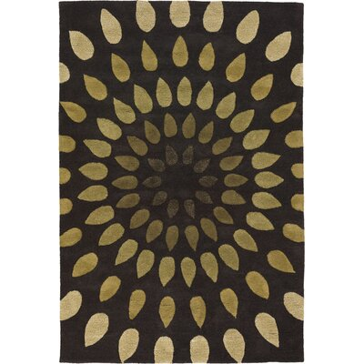 Pifer Brown Area Rug Rug Size: 79 x 106