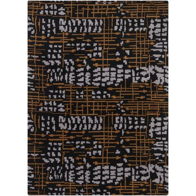 Pender Orange/White Area Rug Rug Size: 7 x 10