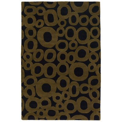Phair Gold/Brown Area Rug Rug Size: 79 x 106