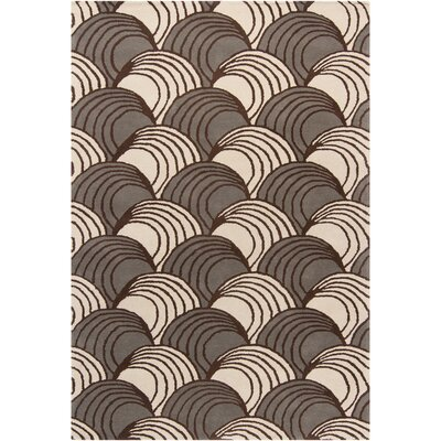 Phair Abstract Brown/Ivory Area Rug Rug Size: 5 x 76