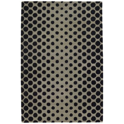 Phair Black/Sage Area Rug Rug Size: 79 x 106