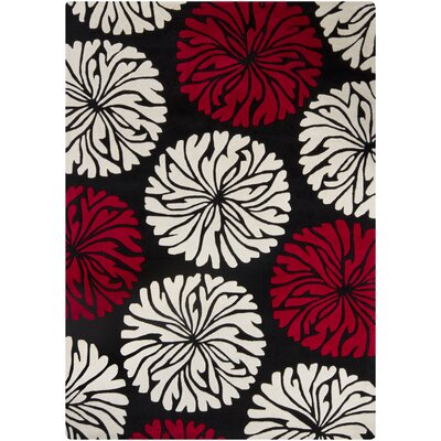 Phair Red Area Rug Rug Size: 5 x 7