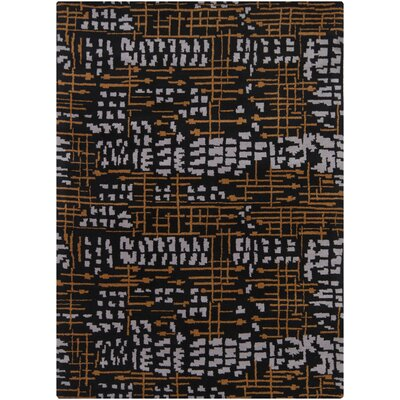 Pender Black Abstract Rug Rug Size: 9 x 13
