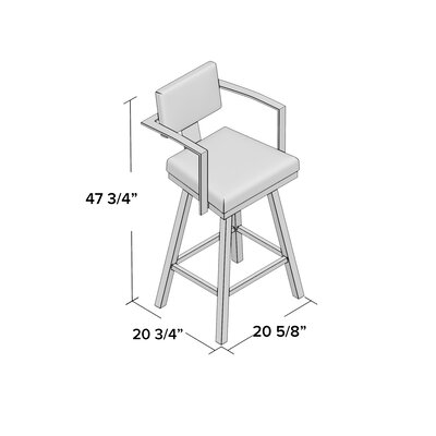 Perrotta 30.25 Swivel Bar Stool