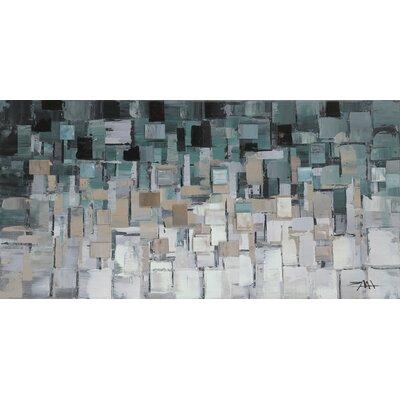 Brayden Studio Gray/Blue Segments Wall Décor
