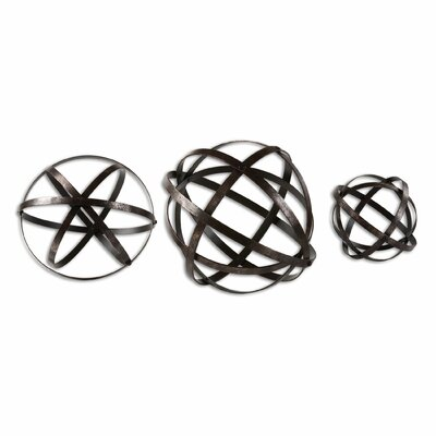 3 Piece Sphere Sculpture Set