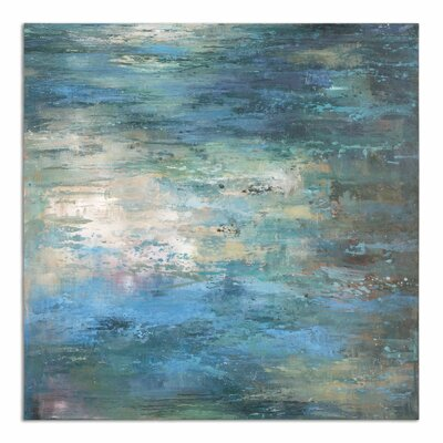 'Splish Splash Modern' Painting on Canvas