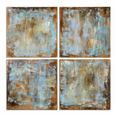 'Accent Tiles Modern' 4 Piece Painting on Canvas Set