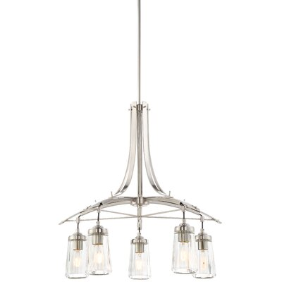 Omeara 5-Light Shaded Chandelier