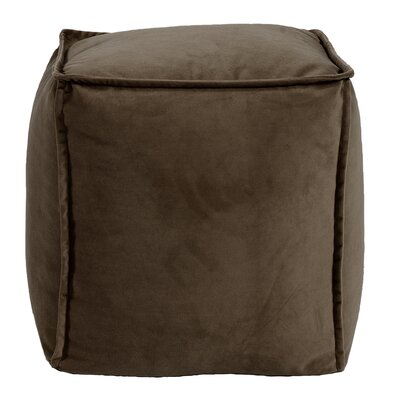 Olmo Square Pouf Bella Ottoman Color: Chocolate