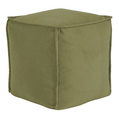 Olmo Square Pouf Bella Ottoman Color: Moss