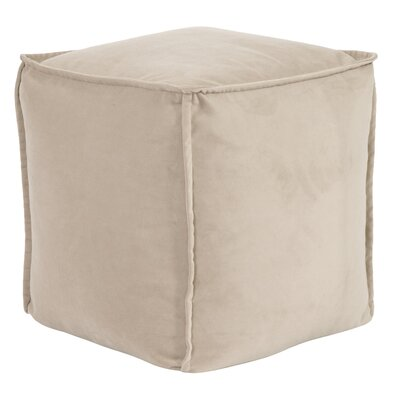 Olmo Square Pouf Bella Ottoman Color: Sand
