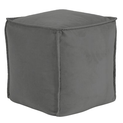 Olmo Square Pouf Bella Ottoman Color: Pewter