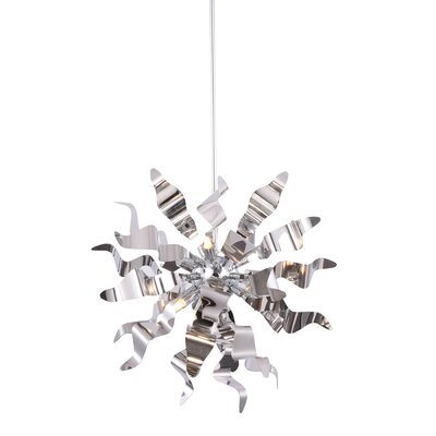 Townson 6-Light Geometric Pendant Finish: Polished Chrome