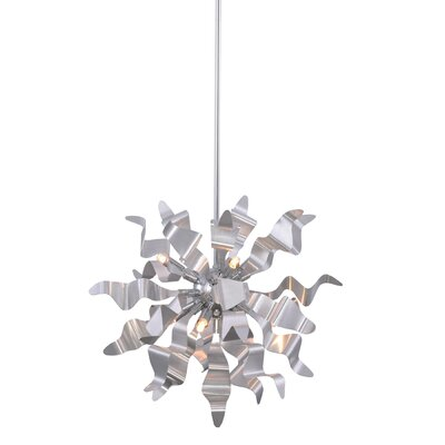 Townson 6-Light Geometric Pendant Finish: Silver
