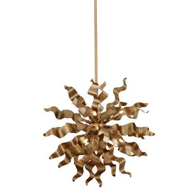 Townson 6-Light Geometric Pendant Finish: Vintage Bronze