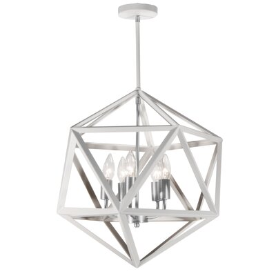 Ohalloran 5-Light Foyer Pendant Finish: Satin Chrome