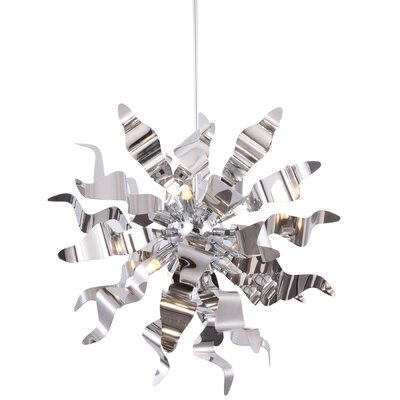 Townson 8-Light Geometric Pendant Finish: Polished Chrome
