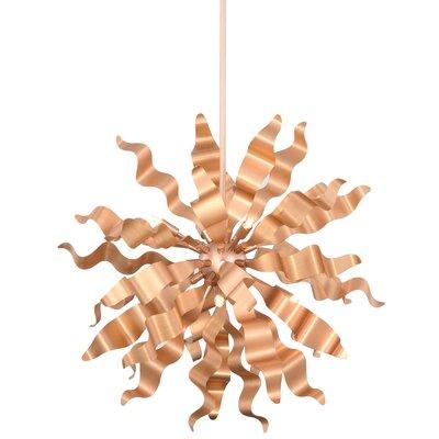 Townson 8-Light Geometric Pendant Finish: Rose Gold