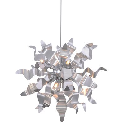 Townson 8-Light Geometric Pendant Finish: Silver