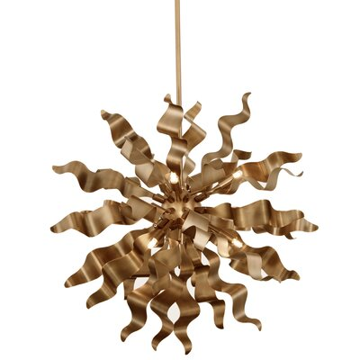 Townson 8-Light Geometric Pendant Finish: Vintage Bronze