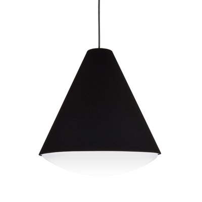 Towry 1-Light Mini Pendant Shade Color: Black, Size: 18.5 H x 17 W x 17 D, Features: Energy Star
