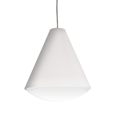 Towry 1-Light Mini Pendant Shade Color: White, Size: 14 H x 12.5 W x 12.5 D, Features: Not Energy Star