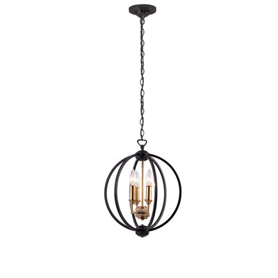 Tourville 3-Light Globe Pendant