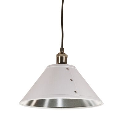 Trafton 1-Light Mini Pendant Shade Color: White/Silver