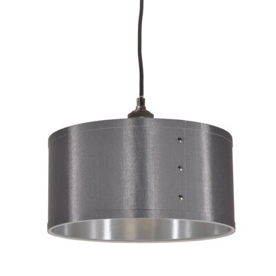 Trafton 1-Light Drum Pendant Shade Color: Platinum/Silver