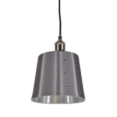 Trafton 1-Light Pendant Shade Color: Platinum/Silver