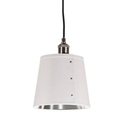 Trafton 1-Light Pendant Shade Color: White/Silver