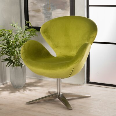 Ospina Swivel Armchair Upholstery: Green