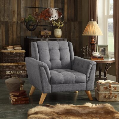 Trahan Arm Chair Upholstery: Gray