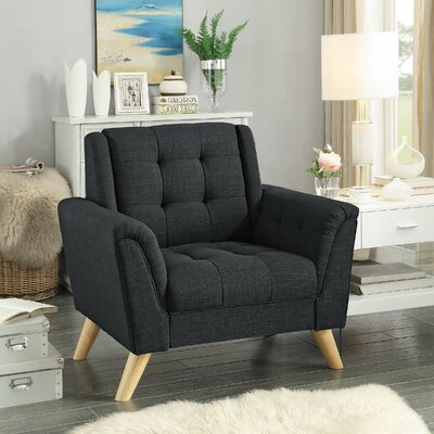 Trahan Armchair Upholstery: Charcoal