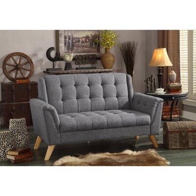 Trahan Loveseat Upholstery: Gray