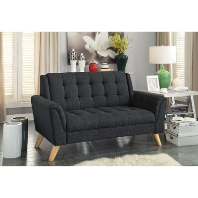 Trahan Loveseat Upholstery: Charcoal