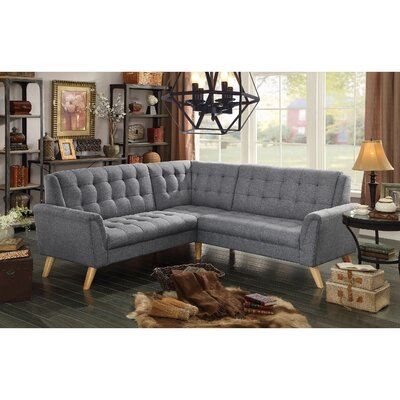Trahan Sectional Upholstery: Gray