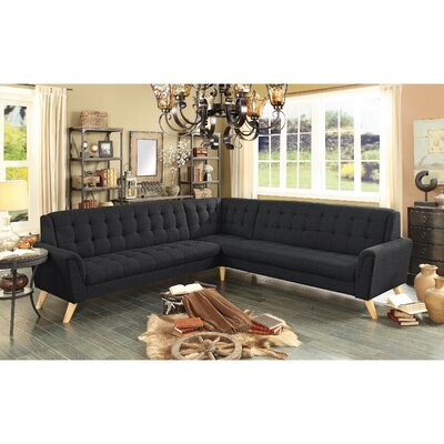 Trahan Sectional Upholstery: Charcoal