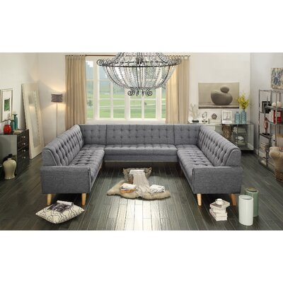 Trahan Reversible Chaise Sectional Upholstery: Gray