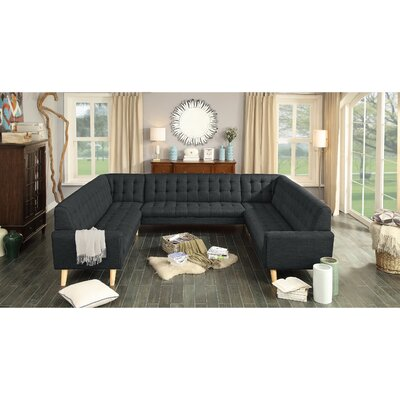Trahan Reversible Chaise Sectional Upholstery: Charcoal