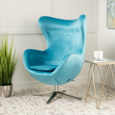 Korinna Swivel Lounge Chair Upholstery: Blue
