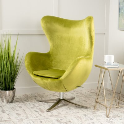 Korinna Swivel Lounge Chair Upholstery: Green