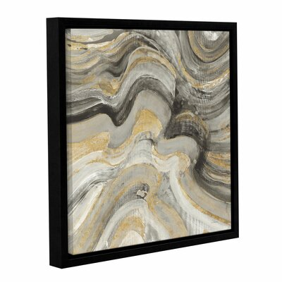 'Flowing Lava Neutral' Framed Painting Print Size: 10
